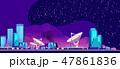 街 都会 都市のイラスト 47861836