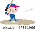 野球 ソフトボール 球技のイラスト 47861966
