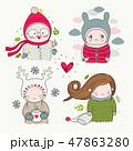キャラクター 文字 字のイラスト 47863280