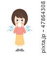 花粉症 アレルギー くしゃみのイラスト 47864308