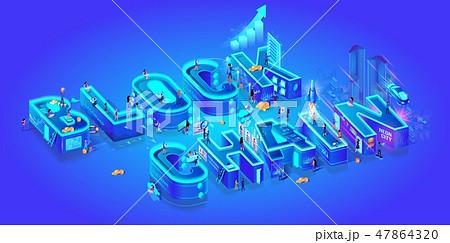 Blockchain. Isometric 3d Word. Cryptocurrency Idea 47864320