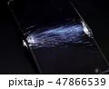 破損したスマートフォン 割れた液晶画面 SONY Xperia 47866539