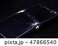 破損したスマートフォン 割れた液晶画面 SONY Xperia 47866540
