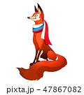 トリコロール 赤 赤色のイラスト 47867082