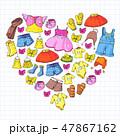 かわいい キュート 可愛いのイラスト 47867162
