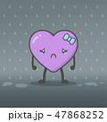 ハート ハートマーク 心臓のイラスト 47868252