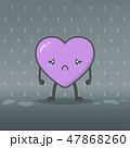ハート ハートマーク 心臓のイラスト 47868260