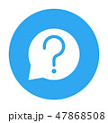Bubble chat with question sign in Blue Circle 47868508