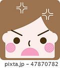 表情 顔 ベクターのイラスト 47870782