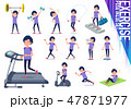 flat type men blue sportswear_exercise 47871977