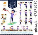 男性 スポーツウエア 料理のイラスト 47871980