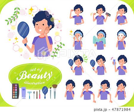 flat type men blue sportswear_beauty 47871984
