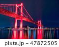 日没 灯り 海の写真 47872505