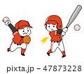 野球選手の男性 47873228