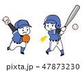 野球選手の男性 47873230
