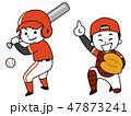 野球選手の男性 47873241