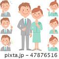夫婦お出かけ 色々な表情 47876516