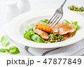 バジル 料理 お料理の写真 47877849