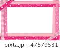 フレーム ポストカード バイヤステープのイラスト 47879531