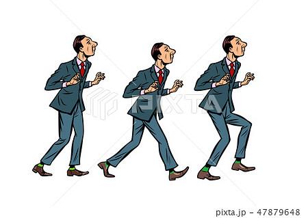businessman walks, gait character phase 47879648