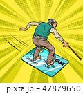 おじいさん 老人 お爺さんのイラスト 47879650