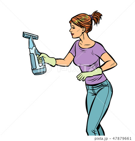 washing cleaning sprayer, woman 47879661