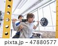 ジム 筋トレ トレーニング イメージ 47880577