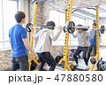 ジム 筋トレ トレーニング イメージ 47880580
