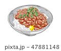 納豆 ごはん 和のイラスト 47881148
