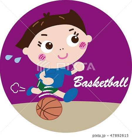 バスケットボール(アイコン)のイラスト素材 [47892615] , PIXTA