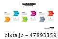 インフォグラフィック やじるし アローのイラスト 47893359