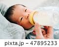 赤ちゃん 新生児 男の子の写真 47895233