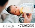 赤ちゃん 新生児 男性の写真 47895235