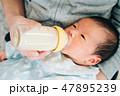 赤ちゃん 新生児 二人の写真 47895239