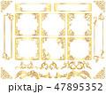 ゴールドフレーム飾り罫手書き 47895352