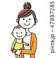 ママ ベクター 赤ちゃんのイラスト 47897285