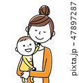 ママ ベクター 赤ちゃんのイラスト 47897287