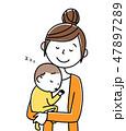 ママ ベクター 赤ちゃんのイラスト 47897289