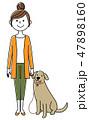 女性 若い ベクターのイラスト 47898160