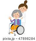 看護師 介護 女性のイラスト 47898284