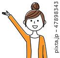 女性 若い ベクターのイラスト 47898343