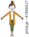 女性 若い ベクターのイラスト 47898417