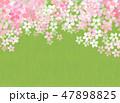 桜 和紙風 模様のイラスト 47898825