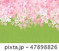 桜 和紙風 模様のイラスト 47898826