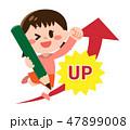 ガッツポーズ 女の子 子供のイラスト 47899008