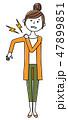 女性 若い ベクターのイラスト 47899851