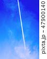 青空と飛行機雲 47900140