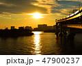 レインボーブリッジ 東京湾 海の写真 47900237