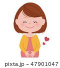 幸せ 笑顔 妊婦のイラスト 47901047