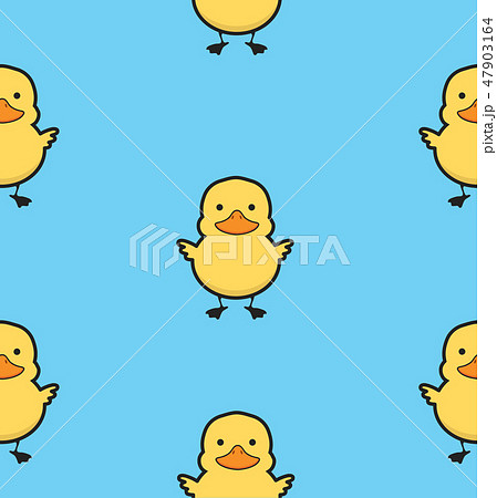 Cute yellow duck seamless pattern 47903164